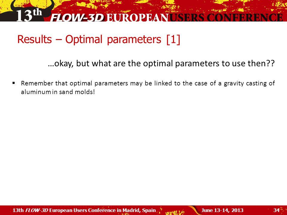 Results – Optimal parameters [1]